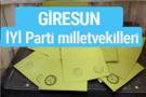 İYİ Parti Giresun milletvekilleri listesi iyi parti oy sonucu