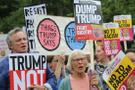 Trump Londra'da protestoyla karşılandı