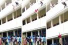 Güvenlik tatbikatında binadan aşağı atılan genç kız öldü!