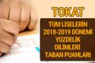 Tokat Lise taban puanları 2018 -2019 nitelikli okullar LGS yüzdelik dilimleri
