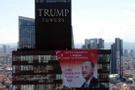 Trump Towers'da Başkan Recep Tayyip Erdoğan'ın posteri