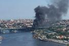 Haliç'te tekne yangını!