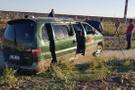 Suriyelileri taşıyan minibüs şarampole yuvarlandı: 12 yaralı!