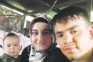 Astsubay Serkan Karakaya'nın eşi ve çocuğuyla son fotoğrafı