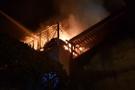 Karaman'da üç ev yangında kül oldu
