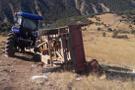 Kırıkkale'de traktörün römorku devrildi: 20 yaralı!