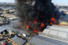 Konya'da büyük yangın! Alevler metrelerce yükseldi