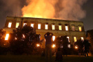 Brezilya Ulusal Müzesi'nde korkutan yangın!