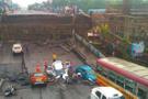 Hindistan'da otoyol çöktü: 30 metrelik yarık!