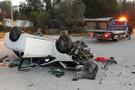 Kontrolden çıkan araç takla attı: Yaralılar var!