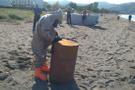 Ordu sahilinde esrarengiz variller!