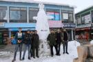Varto'da 3 metrelik kardan adama ilgi