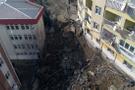 Eyüp'te hastanenin istinat duvarı çöktü! Herkes tahliye ediliyor