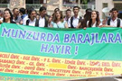 Tuncelili öğrencilerden baraj protestosu