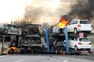 Sıfır otomobiller cayır cayır yandı