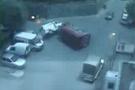 Saniye saniye kaza anı (video)