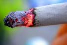 Sigara izmaritini yere atan yandı!
