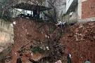 Çanakkale'de yolun istinat duvarı çöktü