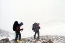 14 üniversiteli dağda mahsur kaldı