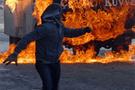 Siirt'te polis aracına molotoflu saldırı