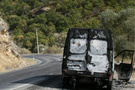 PKK'lı teröristler araç yaktı!