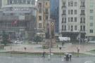 Taksim Meydanı'nda kar şoku!