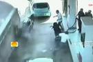 Çin'de feci kaza kamerada