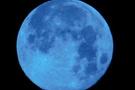 Gökyüzünde mavi dolunay heyecanı