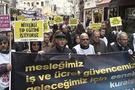 Sağlık çalışanları Taksim'e yürüdü