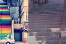 Beyoğlu'nda merdivenleri kim boyadı?