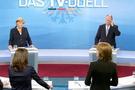 Merkel ve rakibi yüz yüze kapıştı
