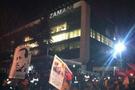 Zaman gazetesi önünde ananaslı protesto