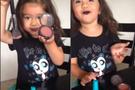 4 yaşındaki kızdan profesyonel makyaj!