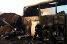 Yolcu otobüs ateş topuna döndü!