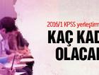 2016/1 KPSS yerleştirmelerinde kaç kadro olacak?