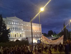 Ankara'daki bombalı saldırıyı Atina'da da protesto ettiler