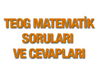 TEOG Matematik soruları ve cevap anahtarı 25 Kasım 2015 EBA