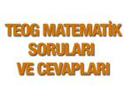 2015 TEOG Matematik soruları ve cevap anahtarı MEB EBA