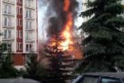Kütahya'da patlama alevler binayı sardı