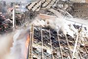 İran'da 17 katlı bina çöktü işte ilk görüntüler