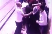 Güvenlik görevlisinin darbediliş anı güvenlik kamerasına yansıdı