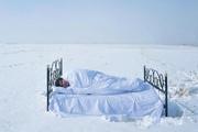Profesör karda uyudu nedenine bakın