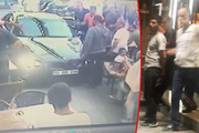 İnsanların üzerine sürdü: Lüks otomobille dehşet saçtı!