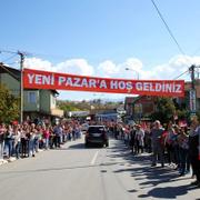 Sırbistan'da Erdoğan'a coşkulu karşılamada dikkat çeken pankart!