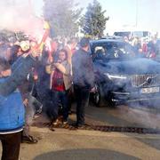Meral Akşener'in konvoyunda korkutan kaza
