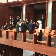 Erdoğan'ın yemin törenini ailesi böyle izledi!