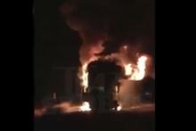 Floyd'un 4 arabası cayır cayır yandı !