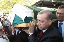 Erdoğan, arkadaşının cenaze törenine katıldı