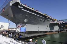 ABD tarihinin en büyük uçak gemilerinden biri...