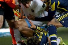Kadıköy'deki maçta birbirlerine girdiler